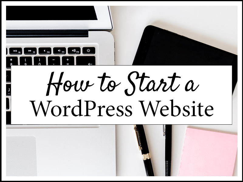 HOW TO START A WEBSITE_W